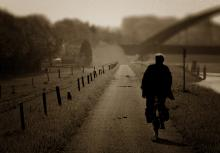 Early morning Bicyclist